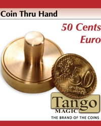 50 cents euro through hand  by Tango Magic