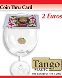 Coin thru card 2 euros by Tango Magic