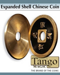 Expanded Shell Chinese Coin Black by Tango Magic
