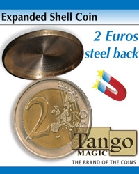 Expanded shell 2 euros steel back by Tango Magic