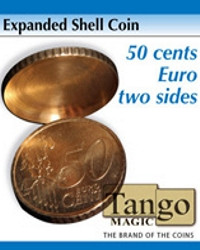 Expanded shell 50 cents euro two sides by Tango
