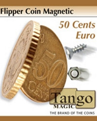 Flipper Coin Magnetic 50 cents euro by Tango Magic