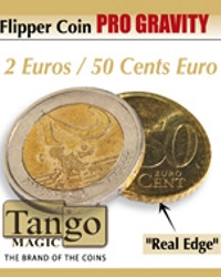 Flipper coin PRO Gravity 2 Euros/50 Cents. Euro by Tango Magic