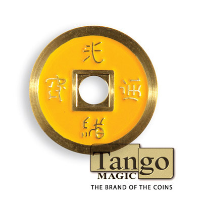 Chinese coin yellow color by Tango Magic