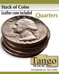 Stack of coins Quarters by Tango Magic
