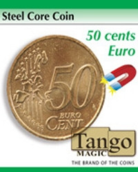 Steel core coin 50 cents euro by Tango Magic