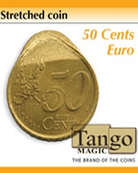 Stretched coin 50 cents euro by Tango
