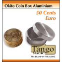 Okito Coin Box Aluminium 50 Cents Euro by Tango Magic