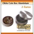 Okito Coin Box Aluminium 2 Euro by Tango Magic