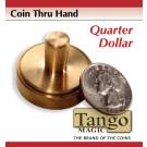 Coin thru hand Quarter dollar through hand by Tango Magic
