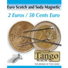 Euro Scotch and Soda Magnetic 2 euros/50 cents euro by Tango Magic