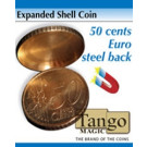 Expanded shell 50 cents euro steel back by Tango Magic