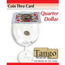Coin Thru Card Quarter Dollar by Tango Magic