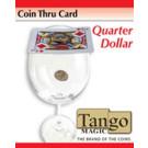 Coin Thru Card Quarter Dollar by Tango Magic