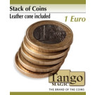 Stack of coins 1 Euro by Tango Magic