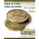 Stack of coins 50 Cents Euro by Tango Magic