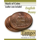 Stack of coins English Penny  by Tango Magic