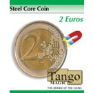 Steel core coin 2 euros by Tango Magic