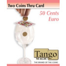 Two coins thru card 50 cents by Tango Magic