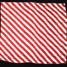 "Pañuelo Zebra Rojo y Blanco (53 cm. – 21"") por Mr. Magic"
